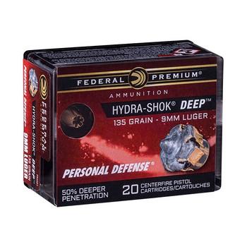 Fed Hydra-shok Deep 9mm 135 Grain Weight Hp 20/ - FEP9HSD1