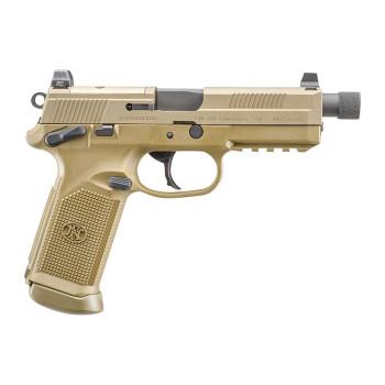 """FN 66982 FNX Single/Double 45 ACP 5.3"""" 10+1 FDE Interchangeable Backstrap Grip F"""