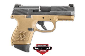 FN Manufacturing Fns-9C 9MM FDE BLK NMS (2) 10Rd