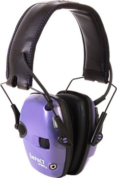 Howard Leight Impact Elect Muff Fldng Purple