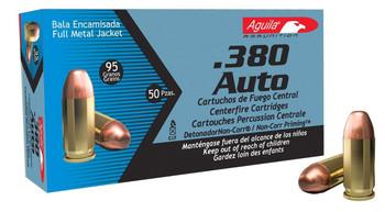 Aguila 380acp 95 Grain Weight Fmj 50/1000