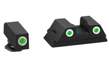 Ameriglo 3dot Trit Green For Glock 42/43