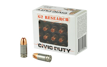 G2 Research Civic Duty 9mm 100 Grain Weight 20/500