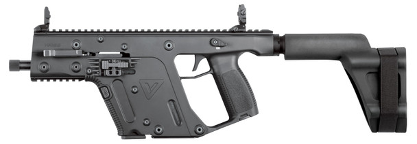 "Kriss USA KV90PSBBL20 Vector GEN II SDP SB Pistol Semi-Automatic 9MM Luger 5.5"" TB 17+1 Black Polymer PSB Black Polymer Grip Black Nitride"