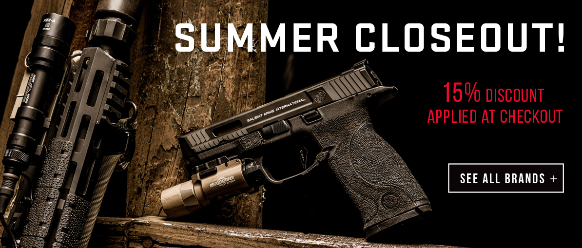 Summer Closeout - 15% Discount