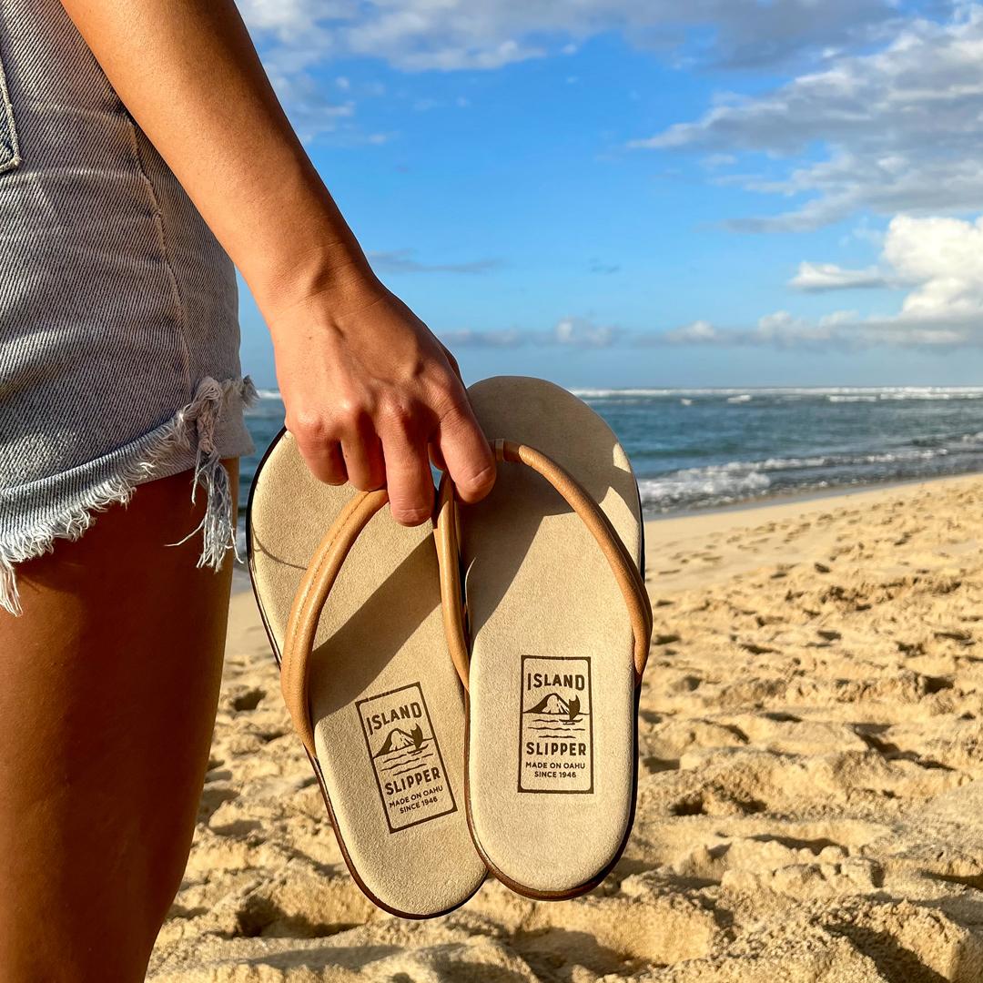 Shop Leather Thong Flat Comfort