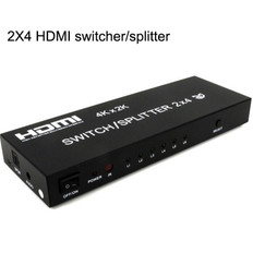 HDMI 2-way Switch + 4-way Splitter  HDMI-SPSW-4X2