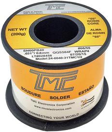 """200g. Solder Wire, 60/40, 0.8mm/0.031""""  24-6040-31TMC1/2"""