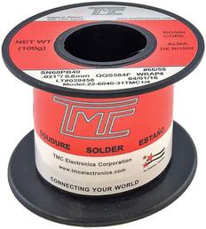 """100g. Solder Wire, 60/40, 0.8mm/0.031""""  22-6040-31TMC1/4"""