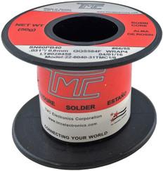 """50g. Solder Wire, 60/40, 0.8mm/0.031""""  22-6040-31TMC1/8"""