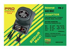 Universal AC/DC Adapter, 500mA  PW-5