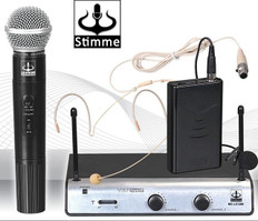 Dual Wireless VHF+Plus Microphone System  MC-LX1288