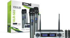 Dual Wireless UHF Microphone System  VLR-502