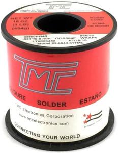 """1 lb. Solder Wire, 60/40, 1mm/0.039""""  22-6040-40TMC"""