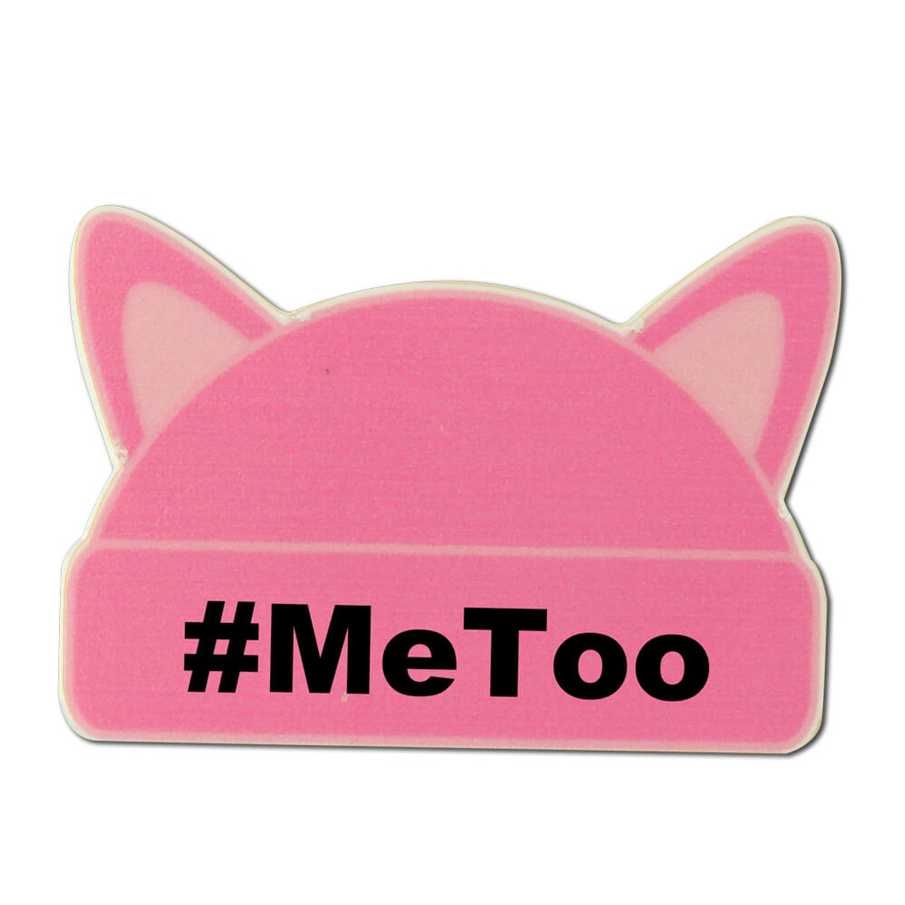 Brand new Pink Me Too Pin | Pink Cat Hat Lapel Pin | StockPins.com TJ54