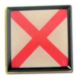 Nautical Code Flag Lapel Pin - V - Victor