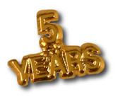 5 Years Lapel Pin