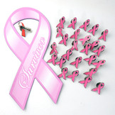 The breast cancer survivor bundle includes one Breast Cancer survivor car magnet, one breast cancer survivor lapel pin and 25 breast cancer awareness lapel pins - save over 35% off the regular price by getting them in this convenient bundle!