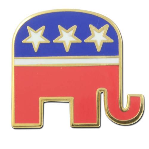 G27 Republican Elephant Lapel Pin