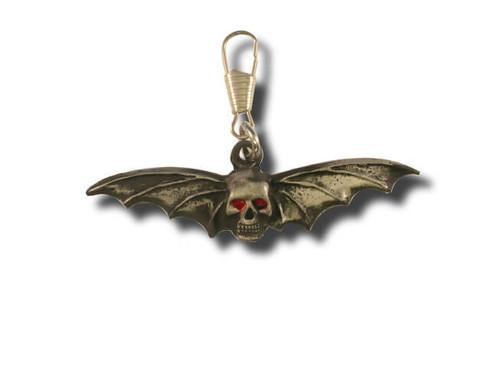 Skull and Wings Zipper Pull