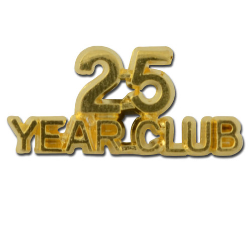 25 year club Lapel Pin