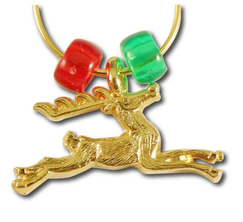 Reindeer Wine Charm Single