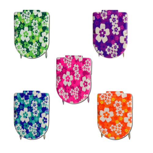 Floral Pattern Cubicle Clip Set