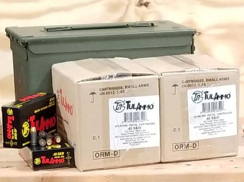 Bundle Tula 40 S&W Ammunition TA401800CAN 180 Grain Full Metal Jacket Inside US Surplus Ammo Can 1000 Rounds