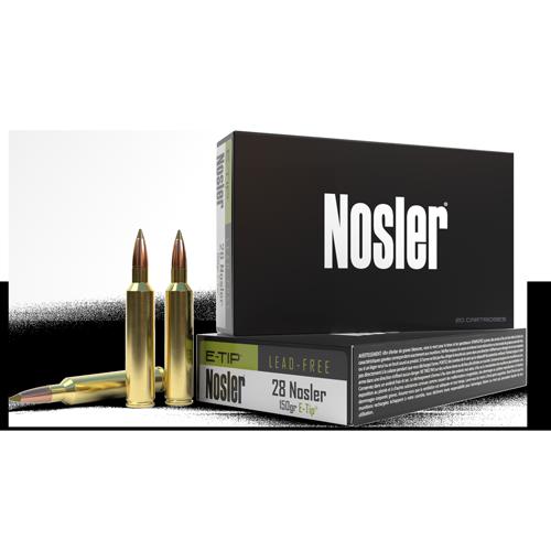 Nosler 28 Nosler Ammunition 40039 150 Grain E-Tip 20 Rounds
