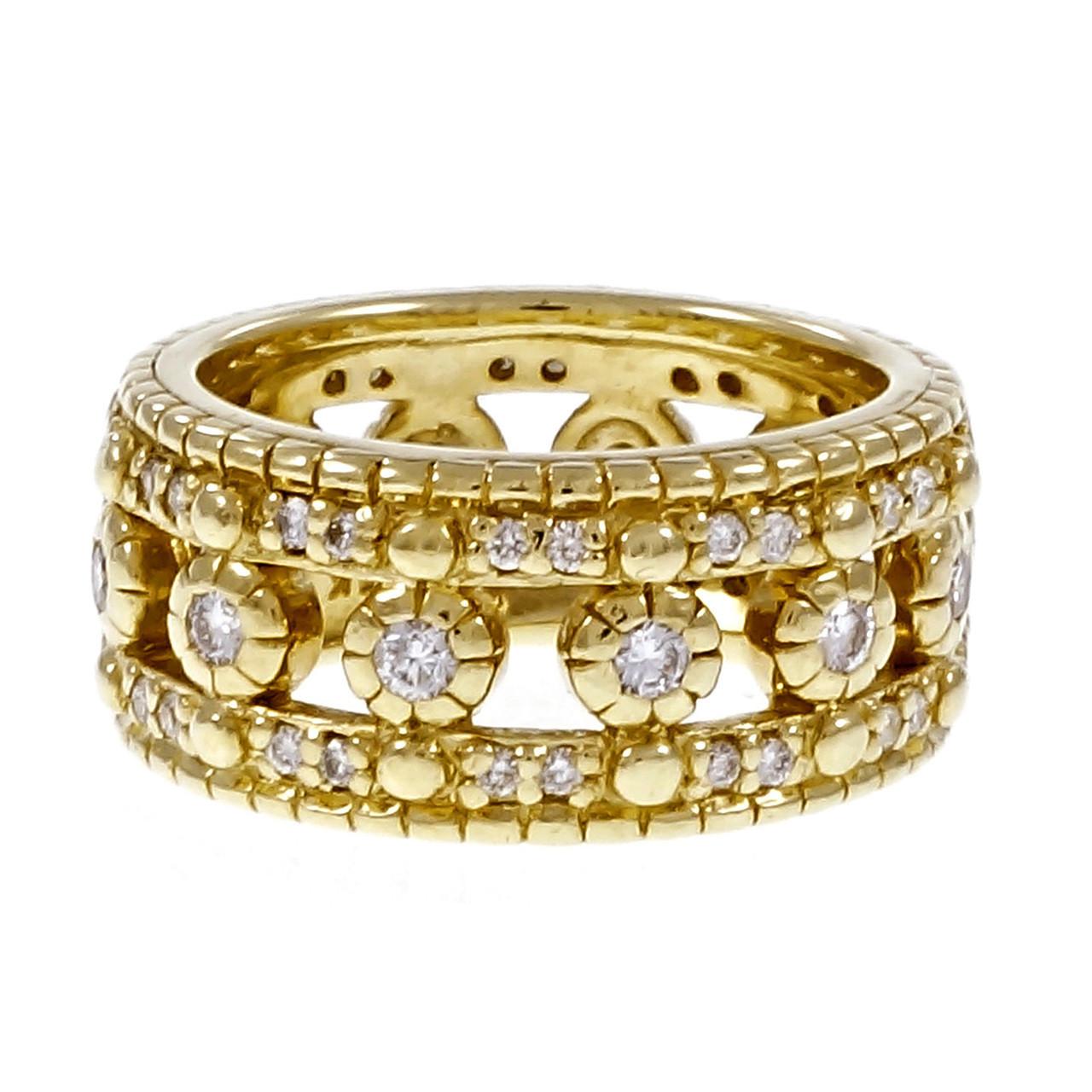 estate judith ripka eternity ring diamond wedding 18k. Black Bedroom Furniture Sets. Home Design Ideas