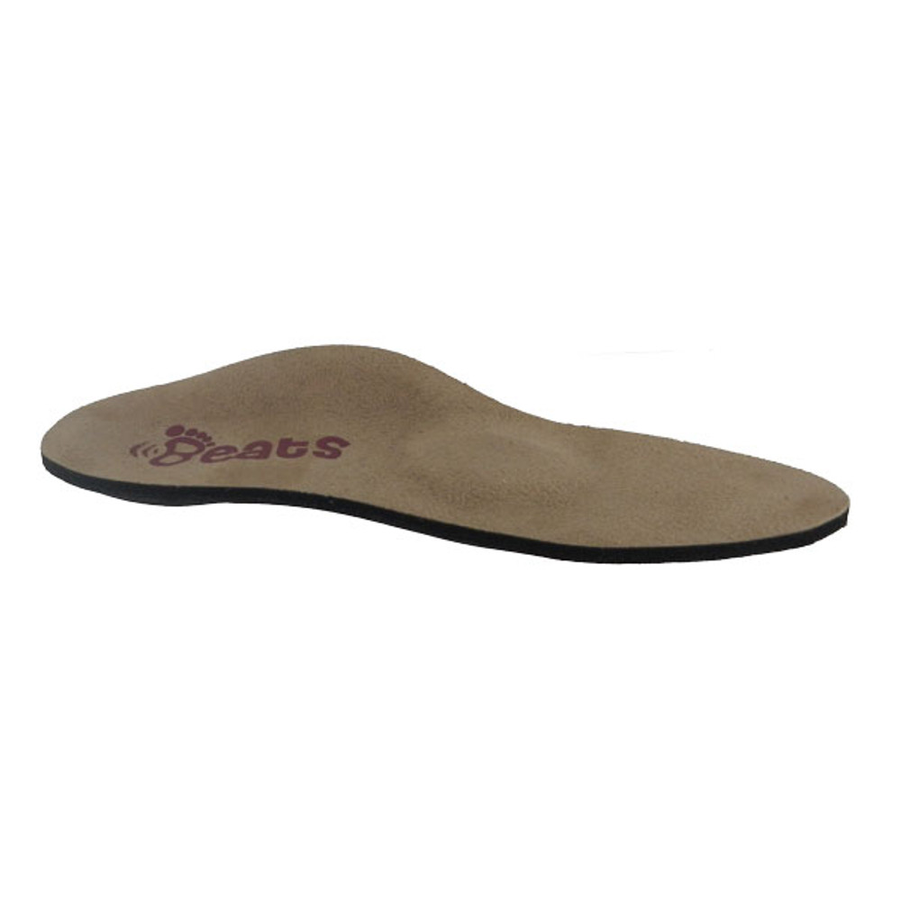 Side View of Beats orthotic.  Beats come with or without the met pad bump pictured here.  The bump is good for those with a sore forefoot.