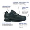 Pedors Stretch Walker Zapatos Diabética Y Ortopédicos