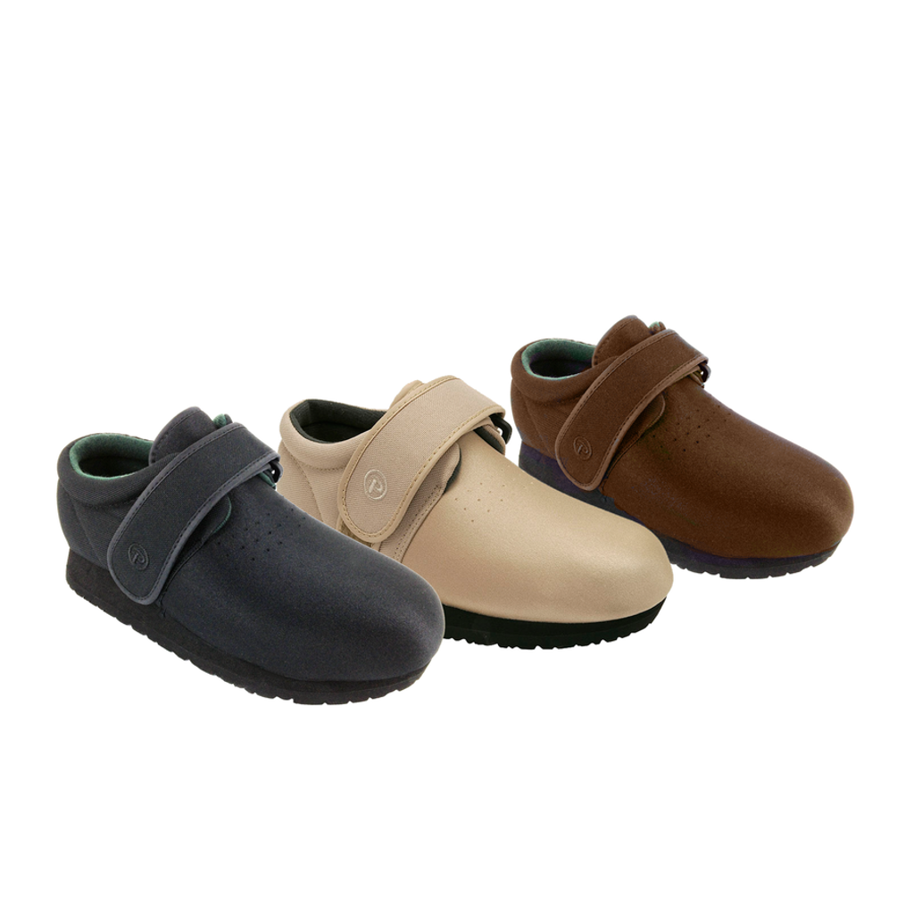 Pedors Clásico Negro, Beige, Marrón Zapatos Diabética Y Ortopédicos