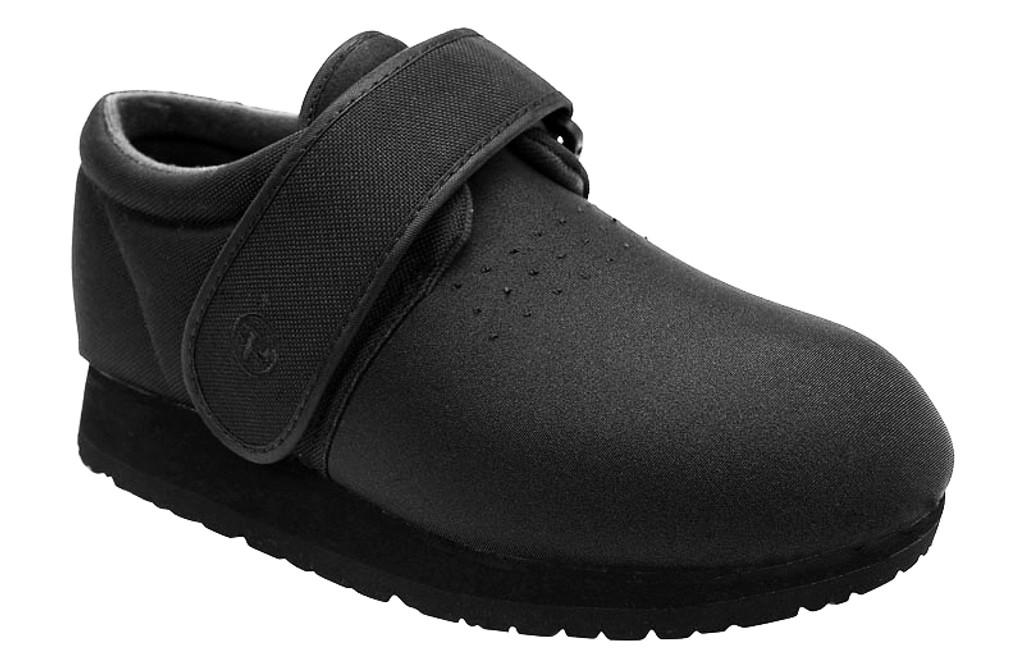 Pedors Clásico Negro Side Zapatos Diabética Y Ortopédicos