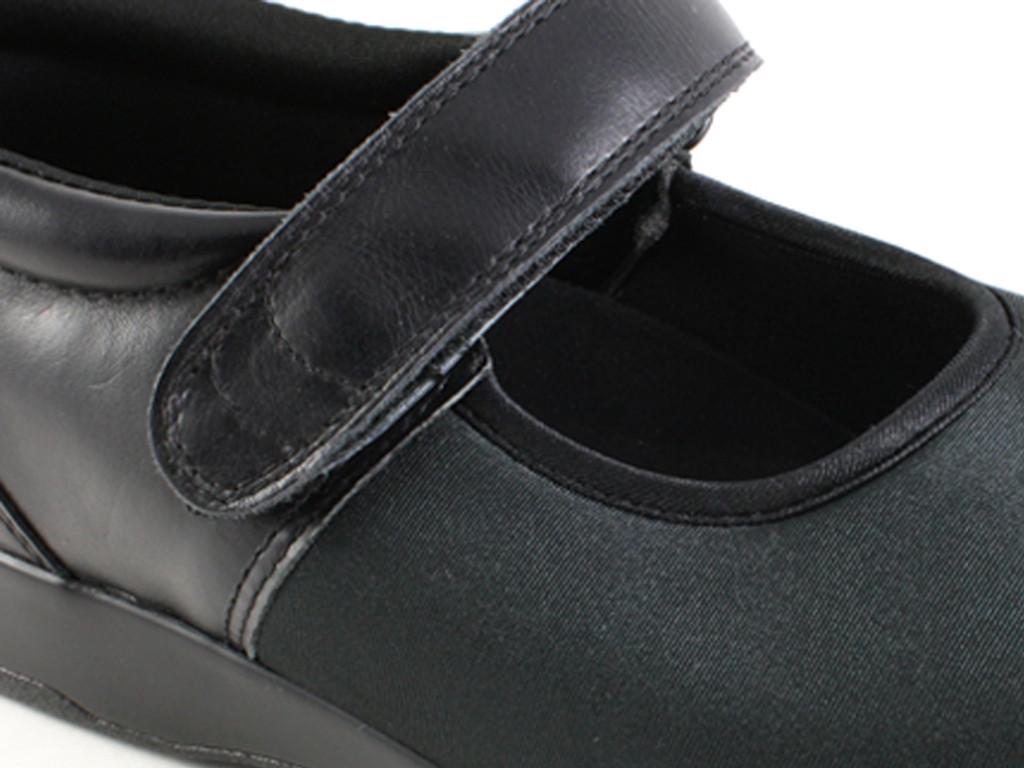 Pedors 500 Black Mary Jane  Zapatos Diabética Y Ortopédicos