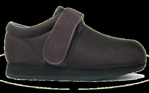 Pedors Clásico Negro Side Profile Zapatos Diabética Y Ortopédicos
