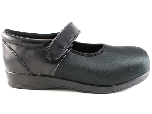 Pedors 500 Black Mary Jane Side Zapatos Diabética Y Ortopédicos