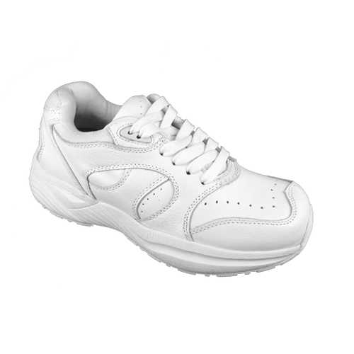Genext Athletic White Lace-Up GAL20M Mens Orthopedic Shoes