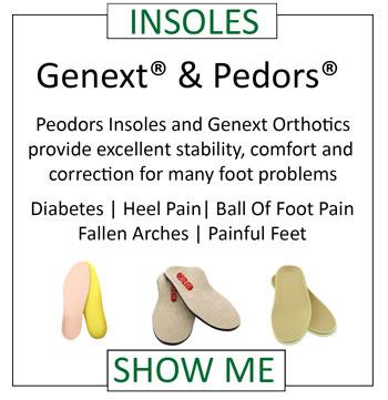 Pedors Insoles For Diabetes & Comfort Genext Orthotics For Alignment Balance Heel Pain Plantar Fasciitis Ball of Foot Pain Metatarsalgoa