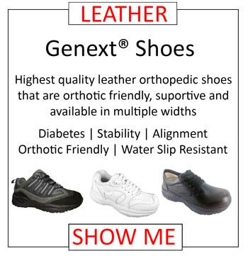 Genext Leather Orthopedic Shoes Balance Stability Orthotic Shoes Diabetes Alignment