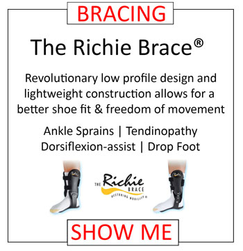 The Richie Brace Low Profile & Lightweight Bracing For Ankle Sprains Tendinopathy Dorsiflexion Assist Drop Foot