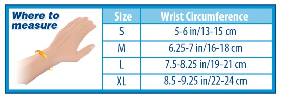 How to measure for the OrthoSleeve Wrist Compression Sleeve