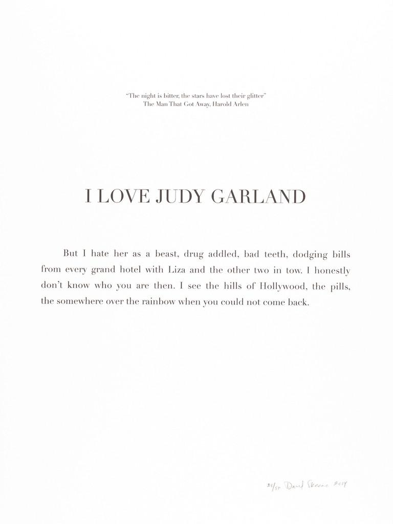 "David Skeens, ""I Love Judy Garland"""