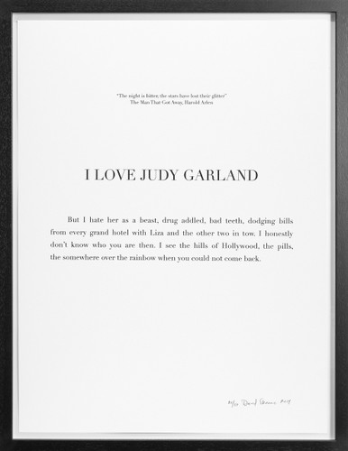 "David Skeens, ""I Love Judy Garland"""