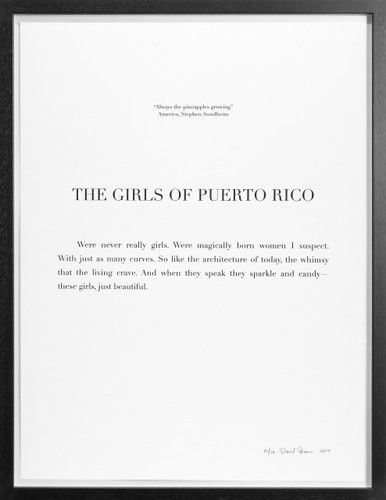 "David Skeens, ""The Girls of Puerto Rico"""