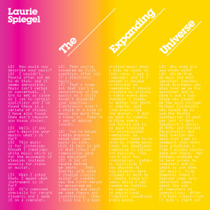 LAURIE SPIEGEL: The Expanding Universe 3LP