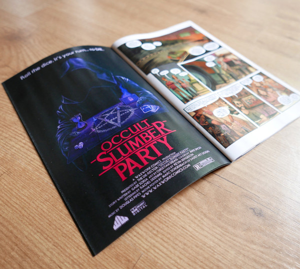 HOUSE OF WAXWORK ISSUE 1 Occult Slumber Party Green Splatter