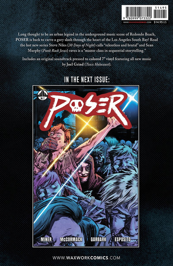 Poser (Black and Blue Swirl Colored Vinyl) Comic