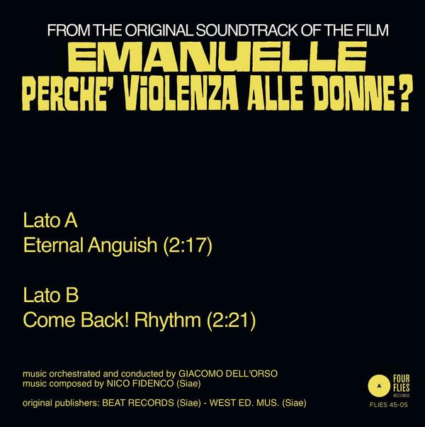 "NICO FIDENCO: Eternal Anguish / Come Back! Rhythm 7"""