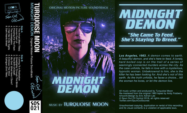 TURQUOISE MOON: Midnight Demon (Neon Blue) Cassette